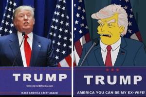 Simpsons predict Trump
